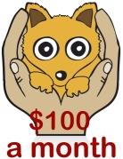 $100amonth